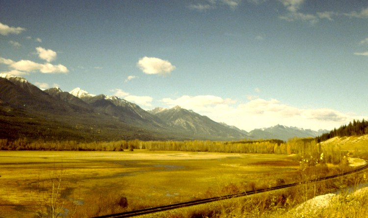 The Purcell Mountains along the Columbia Valley, British Columbia